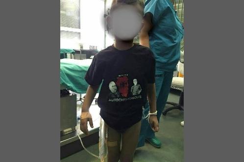Клинички центар Ниш (јуче). Албанци  из Прешева довели дете у мајици са симболима